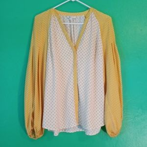 Boden Yellow Long Sleeves Blouse